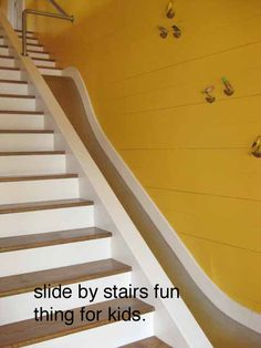 Build A Slide By Your Stairs!