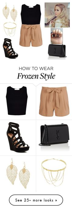 """""""Beautiful in summer"""" by paoladouka on Polyvore featuring Boohoo, Chinese Laundry, Yves Saint Laurent, Disney and Lana"""