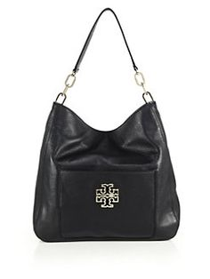 Tory Burch - Britten Leather Hobo Bag