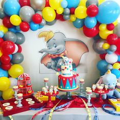 Celebrating my sweet Matteo! Dumbo Birthday Party, Boys 1st Birthday Party Ideas, Baby Boy First Birthday, Birthday Party Tables, Circus Birthday, First Birthday Parties, Circus Baby, Circus Theme, Carnival Themed Party