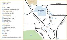 Location Map Spray Park, Hill Park, Water Spray, Location Map, Calgary, Elementary Schools, Playground Slide, Map, Primary School