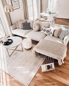 Boho Living Room, Home And Living, Living Place, Living Room Decor Inspiration, Apartment Living, Chic Apartment Decor, Apartment Ideas, Home Interior Design, Living Room Designs