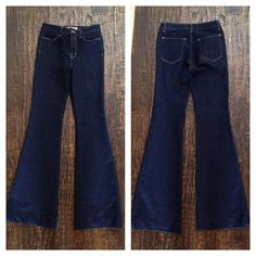 """""""Like new"""" J Brand Trouser Jeans!!! This is a great """" like new"""" pair of J Brand Jeans. Dark blue. Flare at the bottom. 26"""" waist, 34"""" inseam. Jeans"""
