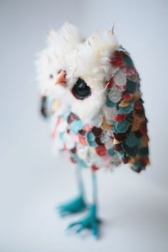 amazeballs!  Gorgeous doll maker on Etsy. Petites Choses, Belles Choses, Owl Crafts, Owl Always Love You, Cute Owl, Owl Art, Soft Sculpture, Fabric Art, Bird Feathers