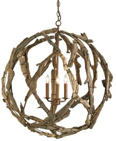 Currey & Company driftwood chandelier - I think I can do this - I think I'm gonna do this !!!
