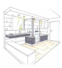 Salle de bains zen en teck et galets de 7m2 le plan chambres et salle de bain pinterest zen - Petit espace ontwerp ...