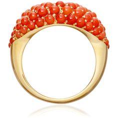 Solange Azagury Partridge Coral Hotlips Ring ($10,330) ❤ liked on Polyvore