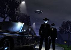 Men in black have been popping up for awhile, usually whenever someone claims to have recently sighted a UFO. Description from alien-ufo-sightings.com. I searched for this on bing.com/images