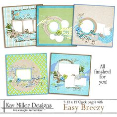 Easy Breezy 12 x 12 Quick Pages