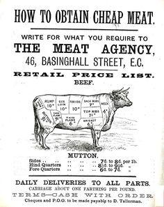 vintage meat advert