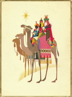 Vintage Xmas card - I that have since the late 60's - The Magi