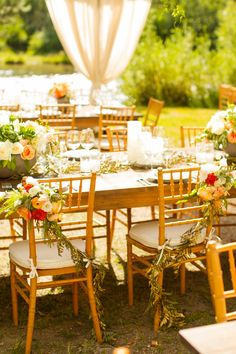 Bride & Groom chairs. #mikelarson #laketahoe #mikelarsonphotographer #bellissimafloral