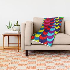 Buy 'Snake Spider' throw blankets by Notsundoku | Society6 #patterns #doodles #zenart #stripes #squiggles #notsundoku #society6 #brightenupourlife #brightcolors #brightcolours #throwblankets #blankets #livingspace #homedecor #cozy