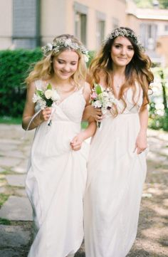 White Bridesmaid Dresses | photography by http://www.alexanderjamesphotography.co.uk/