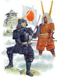 """Date Masamune & Ii Naotaka, siege of Osaka castle, 1615"" , Richard Hook"