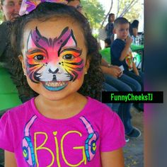 Birthday Party face painting by FunnyCheeksTJ Dallas Face Painter for Kids and Adults