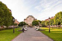 Štátne divadlo a park v Košiciach