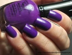 The Clockwise Nail Polish: Kleancolor Neon Purple
