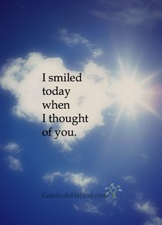 Who makes you smile.  Visit us at: www.GratitudeHabitat.com #smile #friendship #relationship #gratitude