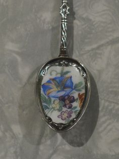 This Antique Sterling Silver Stag Hoof Enameled Decorative Spoon with a Flower Motif featuring a Morning Glory bloom is a delicate work of fine craftsmanship. The enameled porcelain of the spoon's bowl matches the delicate work in the silver stem, en So You Want To Be A Picker? Online Course -CLICK ON THE PICTURE ABOVE ^
