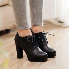 Womens Fashion Lace Up Pump High Heels Platform Ankle Boots .- Womens Fashion Lace Up Pump High Heels Platform Ankle Boots Oxford Shoes – - Lace Up High Heels, High Heel Pumps, Lace Up Shoes, Pump Shoes, Shoe Boots, Stiletto Heels, Flat Boots, Women's Shoes, Dress Boots