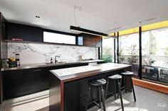 Modern kitchen design Modern Kitchen Design, Kitchen Island, Table, Furniture, Kitchens, Home Decor, Island Kitchen, Decoration Home, Room Decor