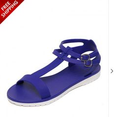Flat Sandals, Flats, Blue T, Best Sellers, Contrast, Bar, Fashion, Loafers & Slip Ons, Moda
