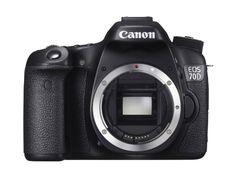 """Canon EOS 70D Nu Reflex numérique, écran 3"""" (7,62 cm), capteur CMOS 20,2 millions de pixels et processeur DIGIC 5+, wifi, USB Noir Canon"""