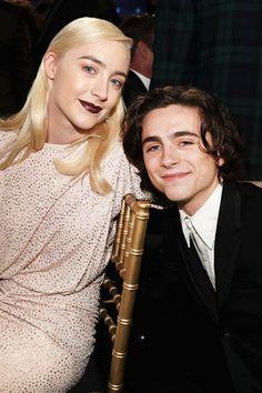 "awardseason: "" Saoirse Ronan, Timothée Chalamet 23rd Annual Critics' Choice Awards, California   January 11, 2018 """