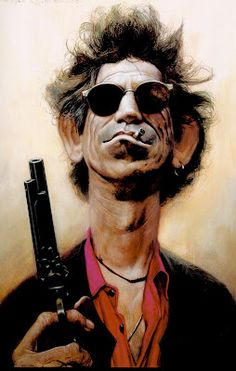 Sebastian Kruger - Keith Richards painting.