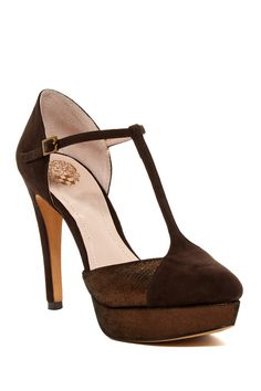 Vince Camuto Akido T-Strap Platform Pump by Vince Camuto on @nordstrom_rack