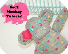 This blog has a step by step picture guide on how to make sock monkeys. So cute.