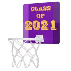 #party - #Class of 2021 Purple Gold Basketball Hoop by Janz