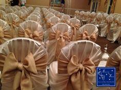 Ceremony seating inside a Ballroom