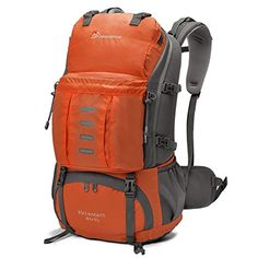 Mardingtop 50L Hiking BackpackOutdoor BackpackTravel BackpackClimbing BackpackCamping BackpackMountaineering Backpack with Rain Cover5806II Orange * Check out this great product. Note:It is Affiliate Link to Amazon.