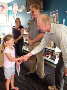 Manaia LibraryPlus Summer Reading finale - getting certificates.