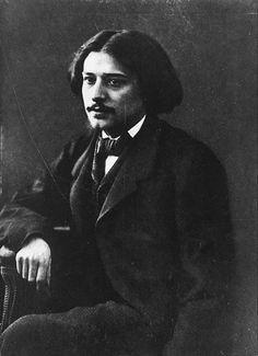 Alphonse Daudet, par Félix Nadar, vers 1860