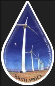 Stamp: Industry (South Africa) (International Year of Water Cooperation) Mi:ZA 2184 South Africa, Stamps, Industrial, Windmills, Water, Dimensional Shapes, Seals, Gripe Water, Wind Mills