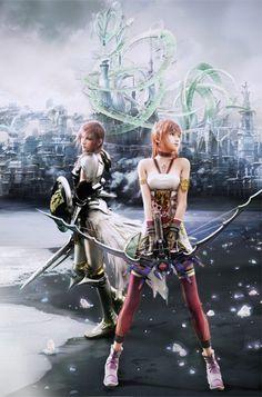 "Lightening ""Clare"" and Sera Farron...Final Fantasy XIII-2"