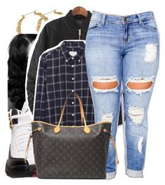 """8/20/16"" by lookatimani ❤ liked on Polyvore featuring Retrò, WithChic, Band of Outsiders, Clayton and Louis Vuitton"