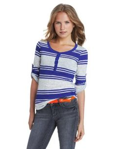 Unionbay Juniors Hudson Stripe Dani H… Henleys, Henley Shirts, Best Sellers, Fashion Brands, Long Sleeve Shirts, Topshop, Clothes, Shopping, Women