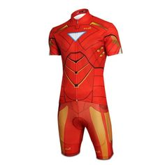 Iron Man Costume Short-Sleeve Biking Cycling