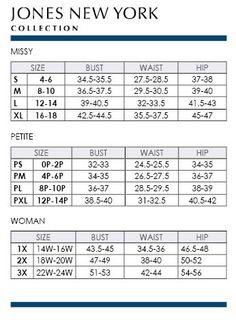 Alfani Woman Regular and Plus Size Charts via Macys | Brand Name ...