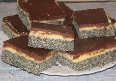 Chefkoch.de Rezept: Mohnkuchen mit Vanillecreme und Schoko