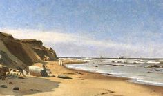 Kystpart fra Hirtshals - 1904 - maleri af Chr. Blache (1838-1920)