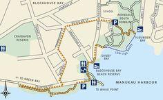 Blockhouse Bay walk - see pohutukawa Explorer Map, Horse Riding, Auckland, Green Bay, Dog Friends, Day Trips, New Zealand, Coastal, Walking