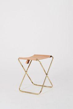 folding brass stool
