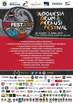 #Event #Acara :  Indonesia Drum & Perkusi Festival 2017 #IDPFEST2017  Lokasi : TAMAN ISMAIL MARZUKI JAKARTA, 30 Maret - 2 April 2017