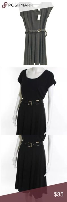 🖤 NWT! Carmen Marc Valvo Belted LBD 🖤 Brand new, pristine condition! V-neck & v-back, belted little black dress perfect for any occasion! Dress up or dress down! So stylish! Carmen Marc Valvo Dresses Midi