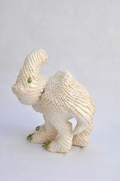 Why Pangoline has scales, artist, Dagmar de Kok, Ceramics 2012